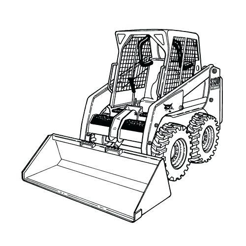 500x500 Bulldozer Coloring Pages Printable Shovel Transportation Drawing