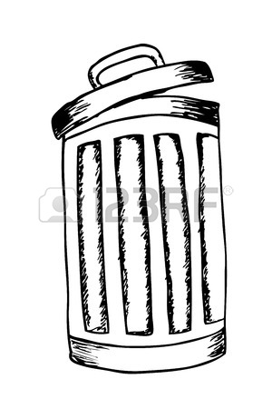 300x450 Hand Draw Sketch, Trash Bin Stock Photo, Picture And Royalty Free