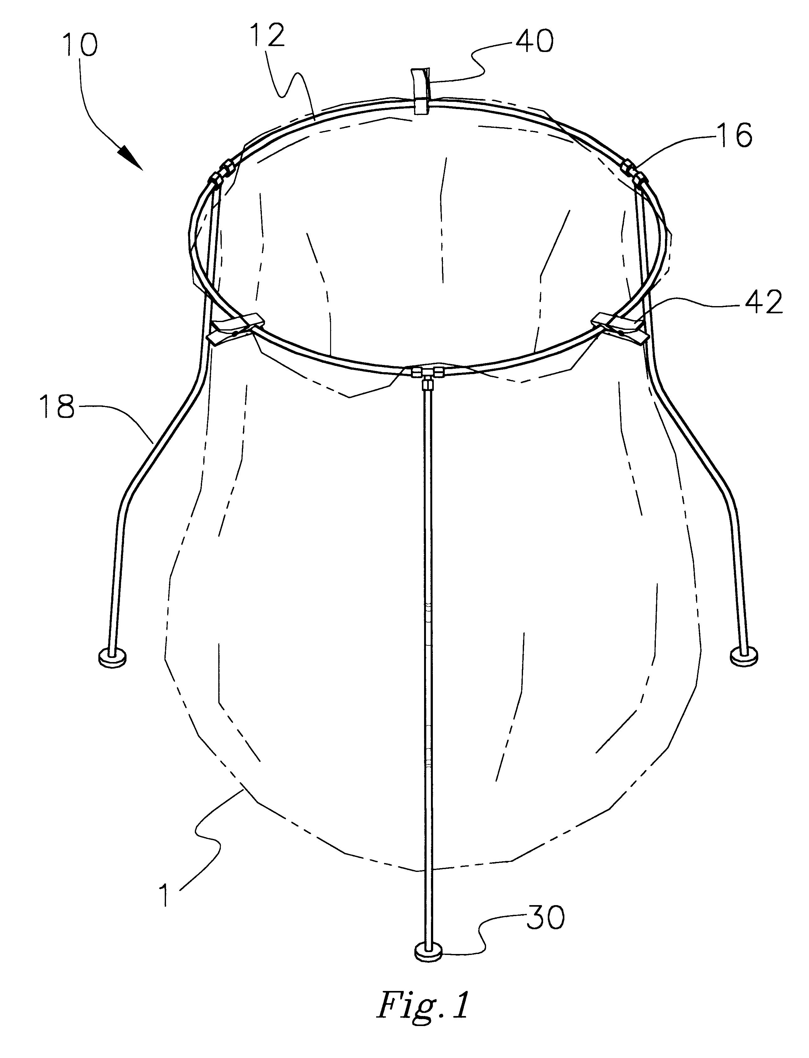 2583x3377 Trash Bag Holder. Trash Bag Holder. Patent Drawing. Metal Trash