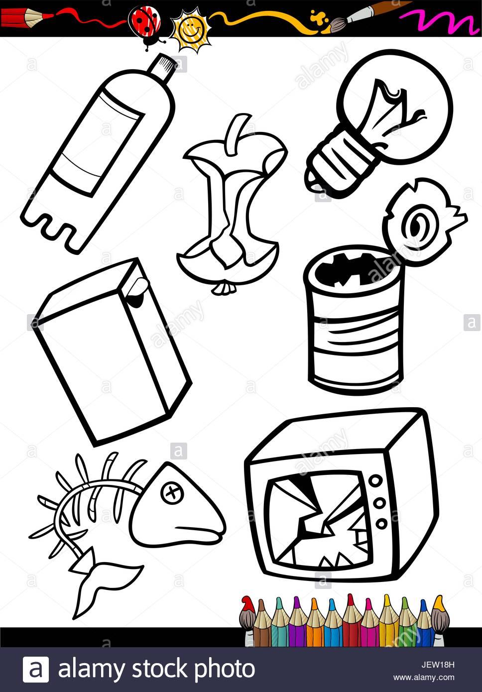 968x1390 Illustration, Trash, Cartoon, Rubbish, Sweepings, Waste