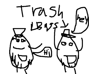 300x250 Two Trash Bags Conversating (Drawing By Blackpancakes)