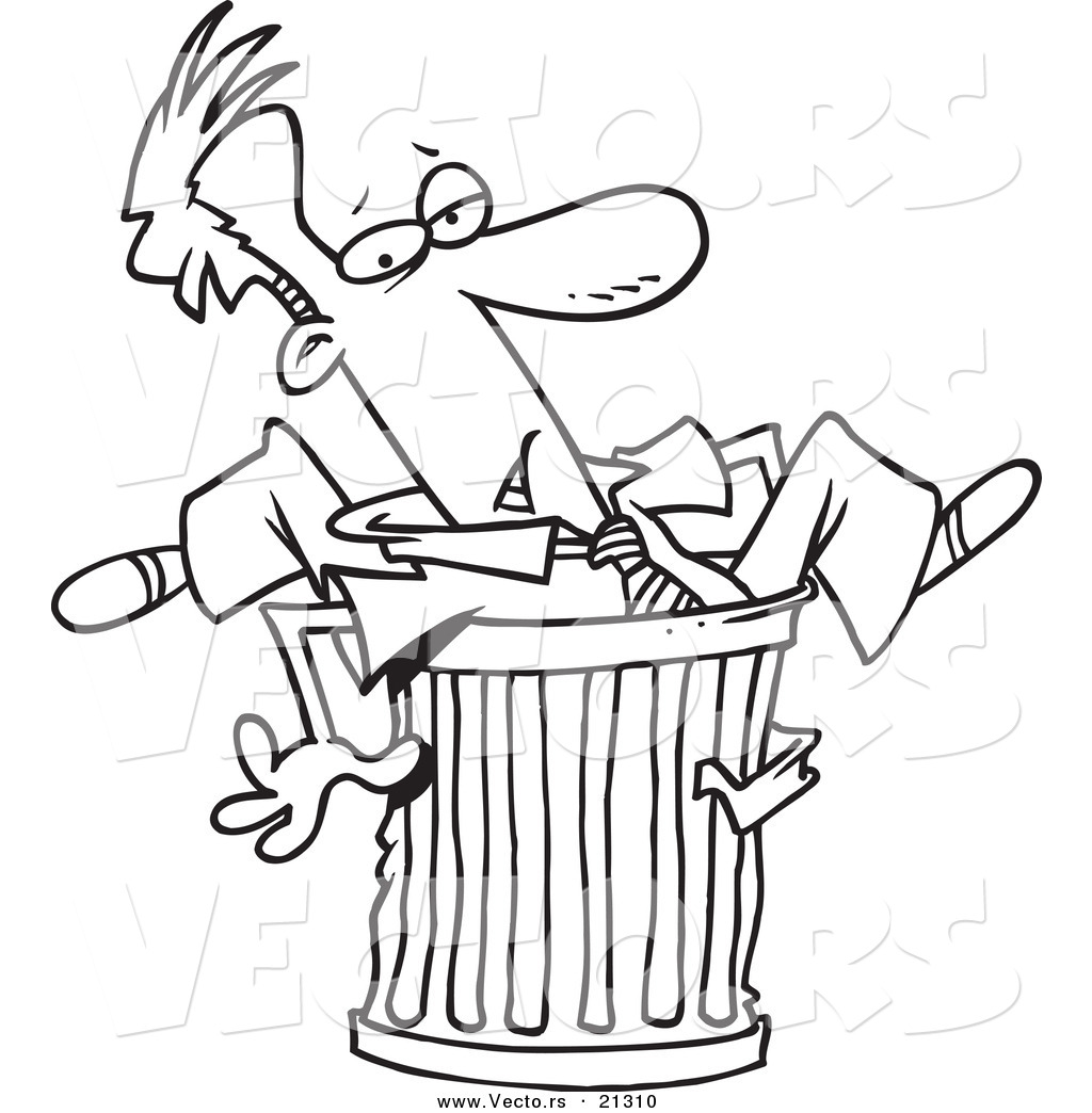 trash can coloring pages - photo#23