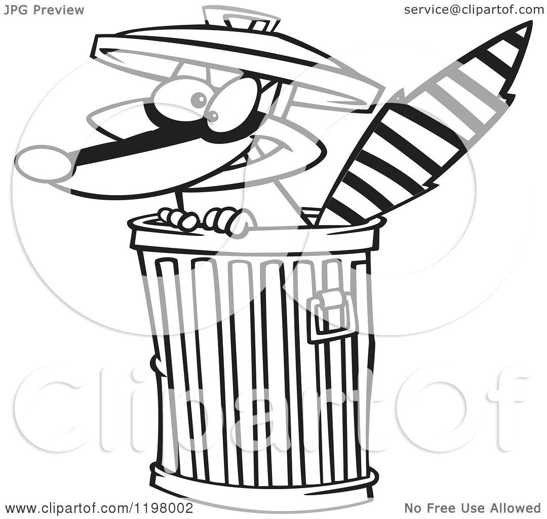 Trash Can Clipart Black And White