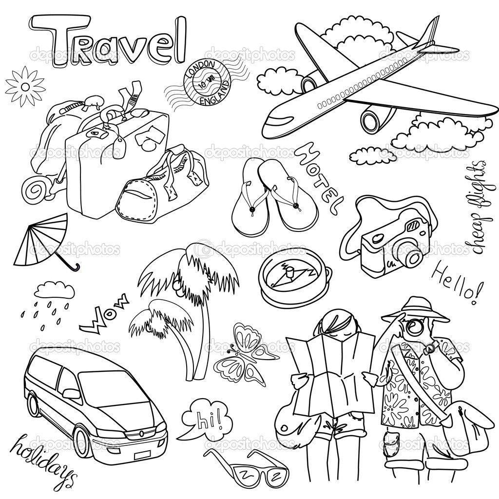 1024x1024 Traveling Doodles Doodles, Bullet Journals And Bullet