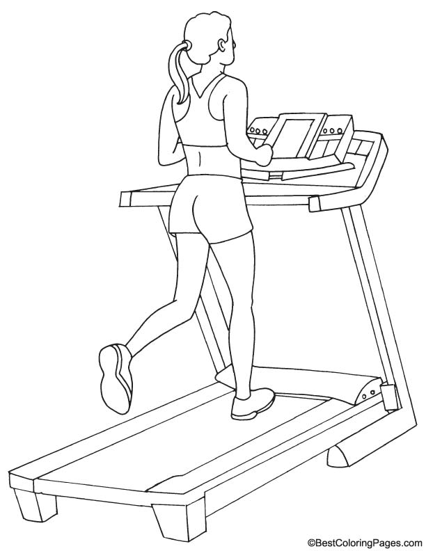 612x792 Treadmill Coloring Page Download Free Treadmill Coloring Page