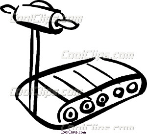 300x274 Treadmills Vector Clip Art