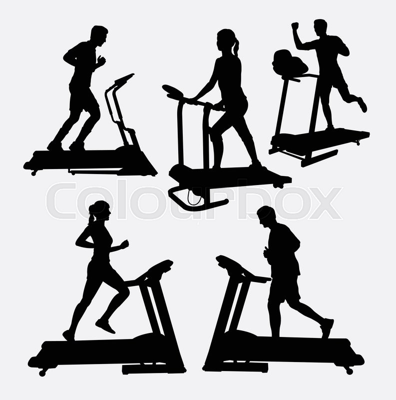 793x800 Treadmills Sport Activity Silhouette. Good Use For Symbol, Web
