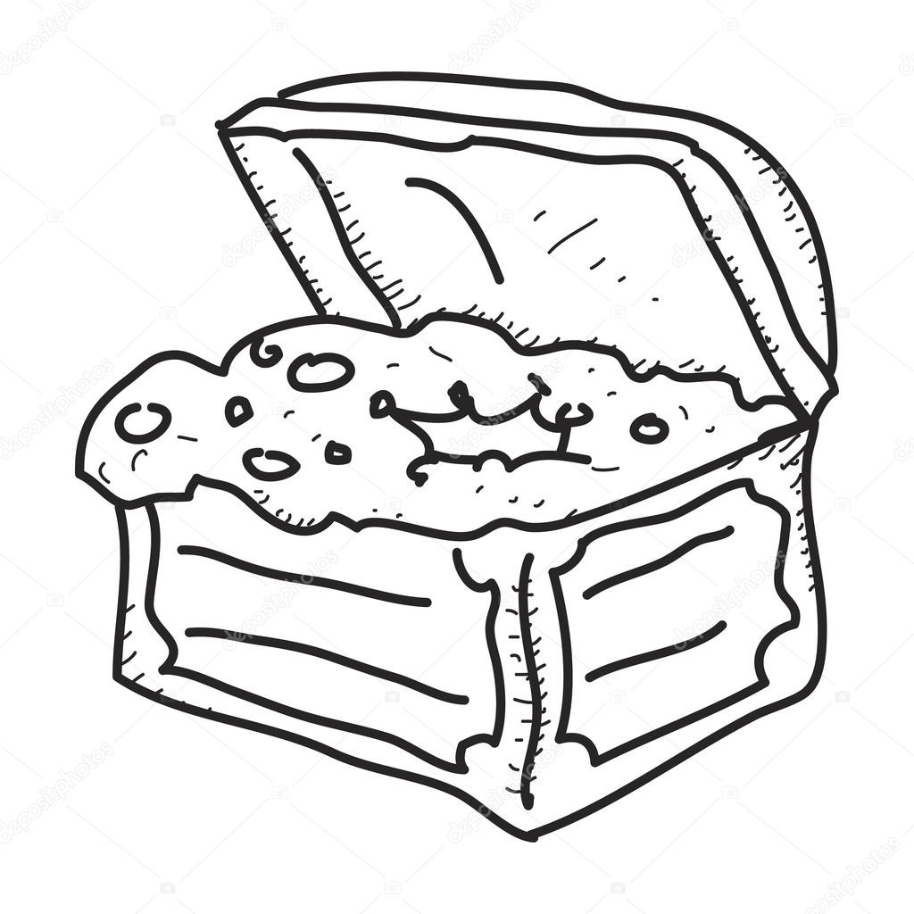 how to draw a simple treasure chest