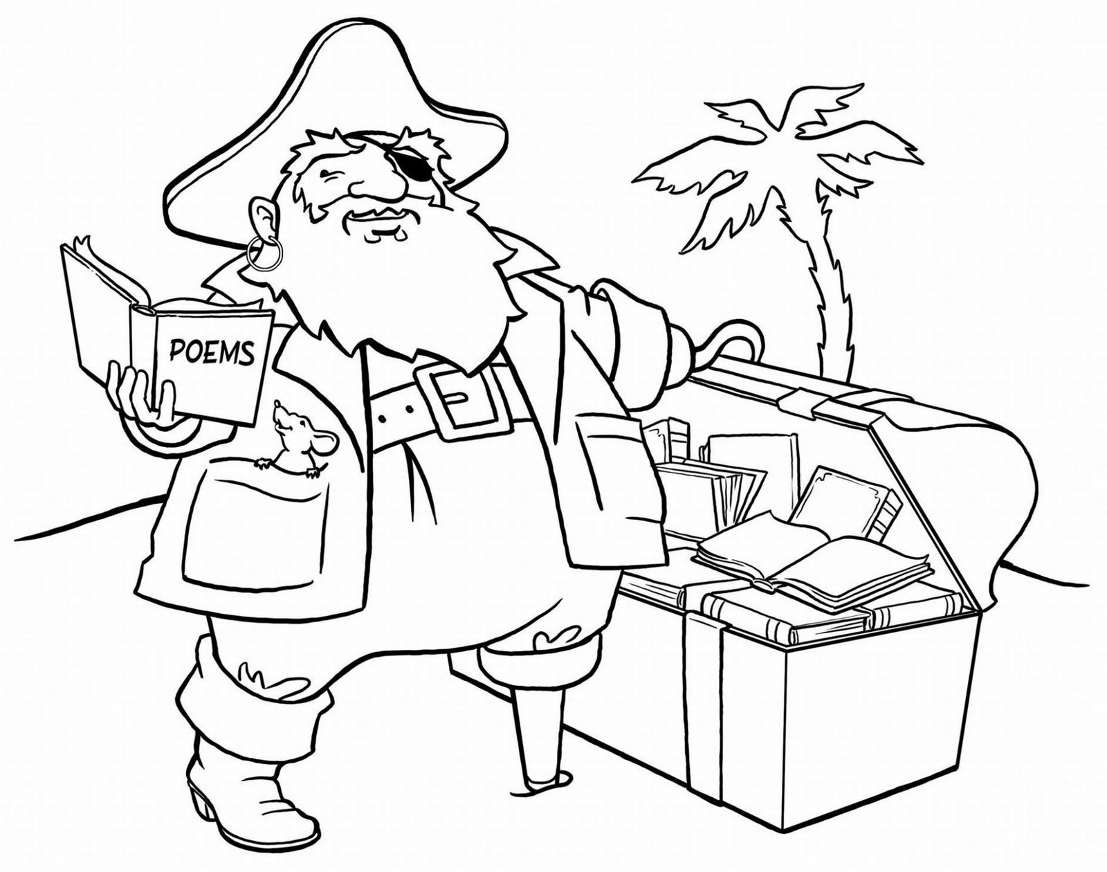 1600x1260 pirate coloring pages to print glum me and treasure chest page