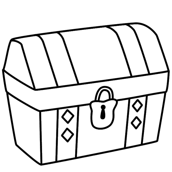 Treasure Chest Line Drawing at GetDrawings.com | Free for personal ...