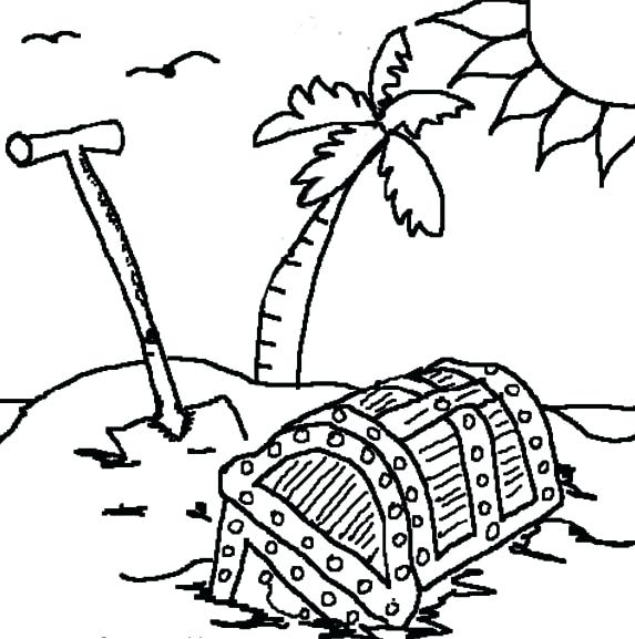 573x577 Island Coloring Page Treasure Island Coloring Pages Gilligans