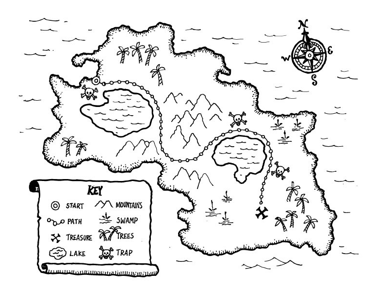 Treasure Map Drawing At Getdrawings Free For Personal Use