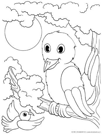 350x467 Birds Coloring Page Kinderart