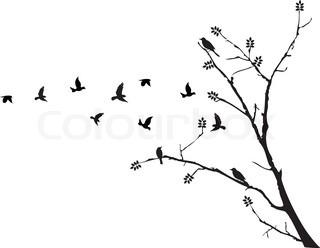 320x248 Tree And Bird Stock Vector Colourbox