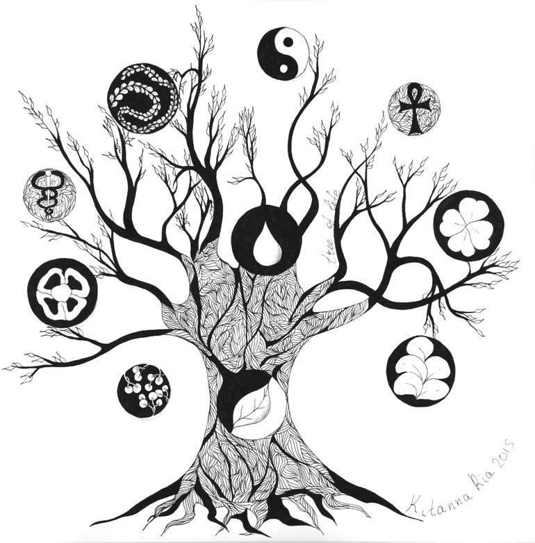 770x781 Saatchi Art Tree Of Life Drawing By Kitanna Ria