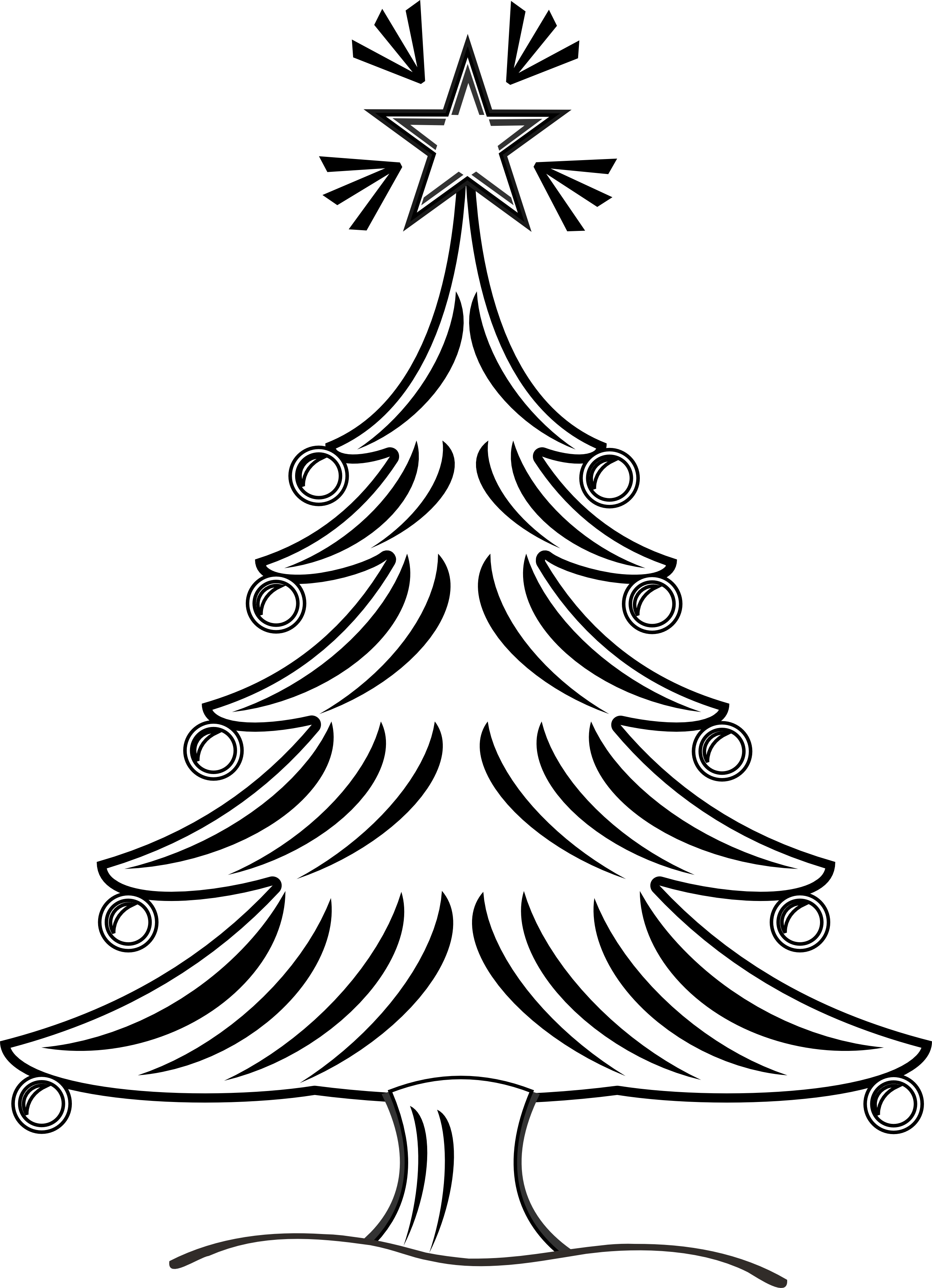2555x3531 Christmas Tree Drawing Ideas For Kids