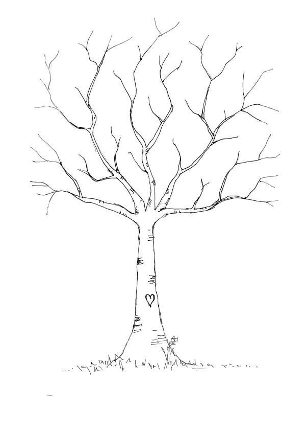 600x849 Wedding Diy Fingerprint Tree Template To Download Amp Print