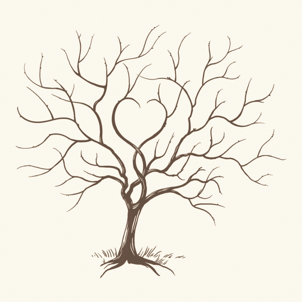 1024x1024 Drawing Of Tree Branches How To Draw Trees Curving Branches