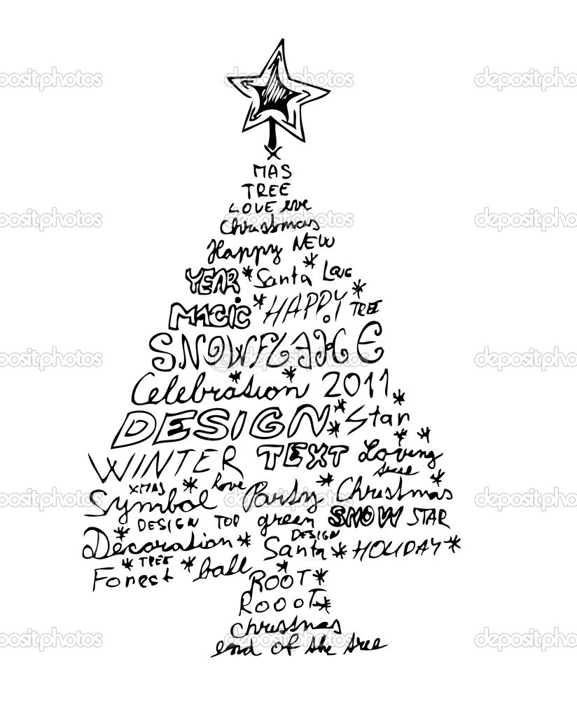 824x1024 interesting christmas tree drawings