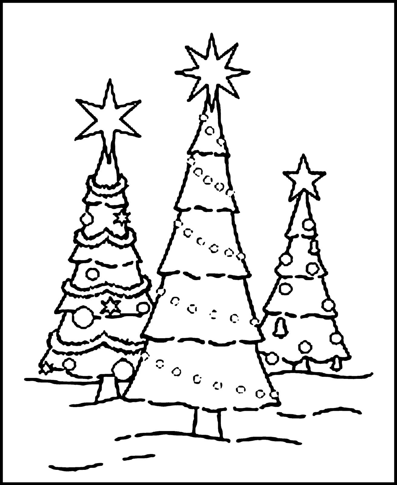 1311x1600 Christmas Tree Drawing Coloring ~ Child Coloring