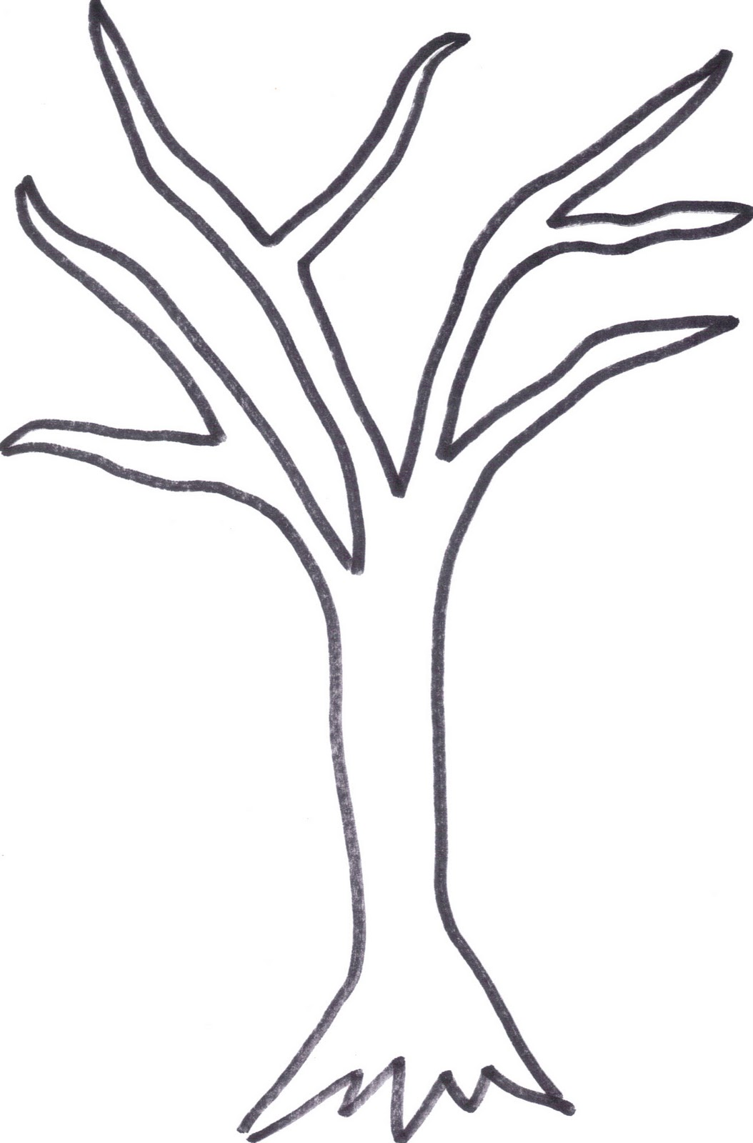 1054x1600 Printable Tree Trunk Here Is The Tree Outline If Anyone Wants