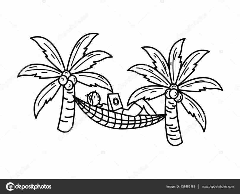 809x656 Surfboard Sand Palm Palm Tree Hammock Drawing Tree Beach Drawing