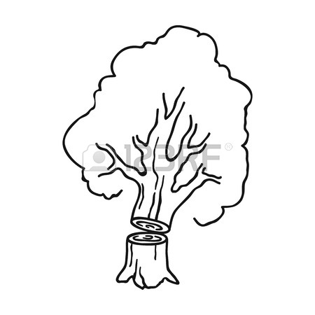 Tree Cutting Drawing