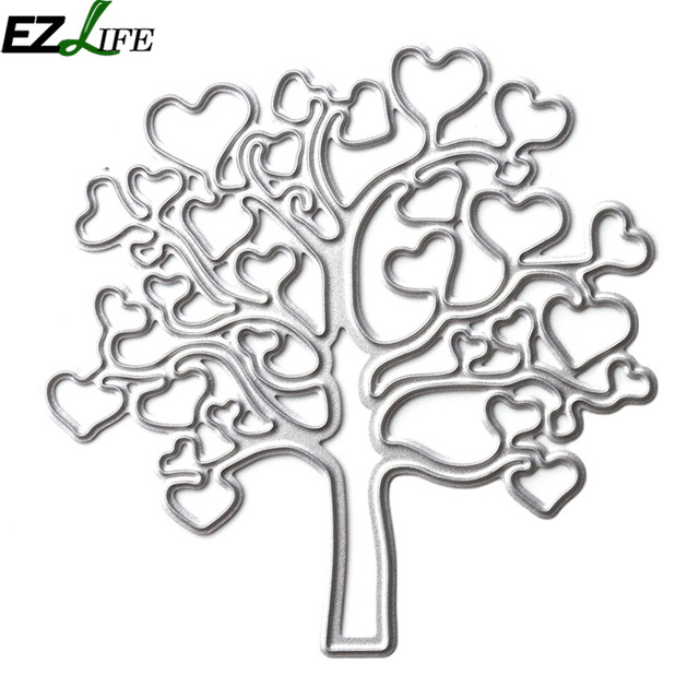 640x640 Heart tree Cutting Dies Nouveau Template Cutting Dies Scrapbooking