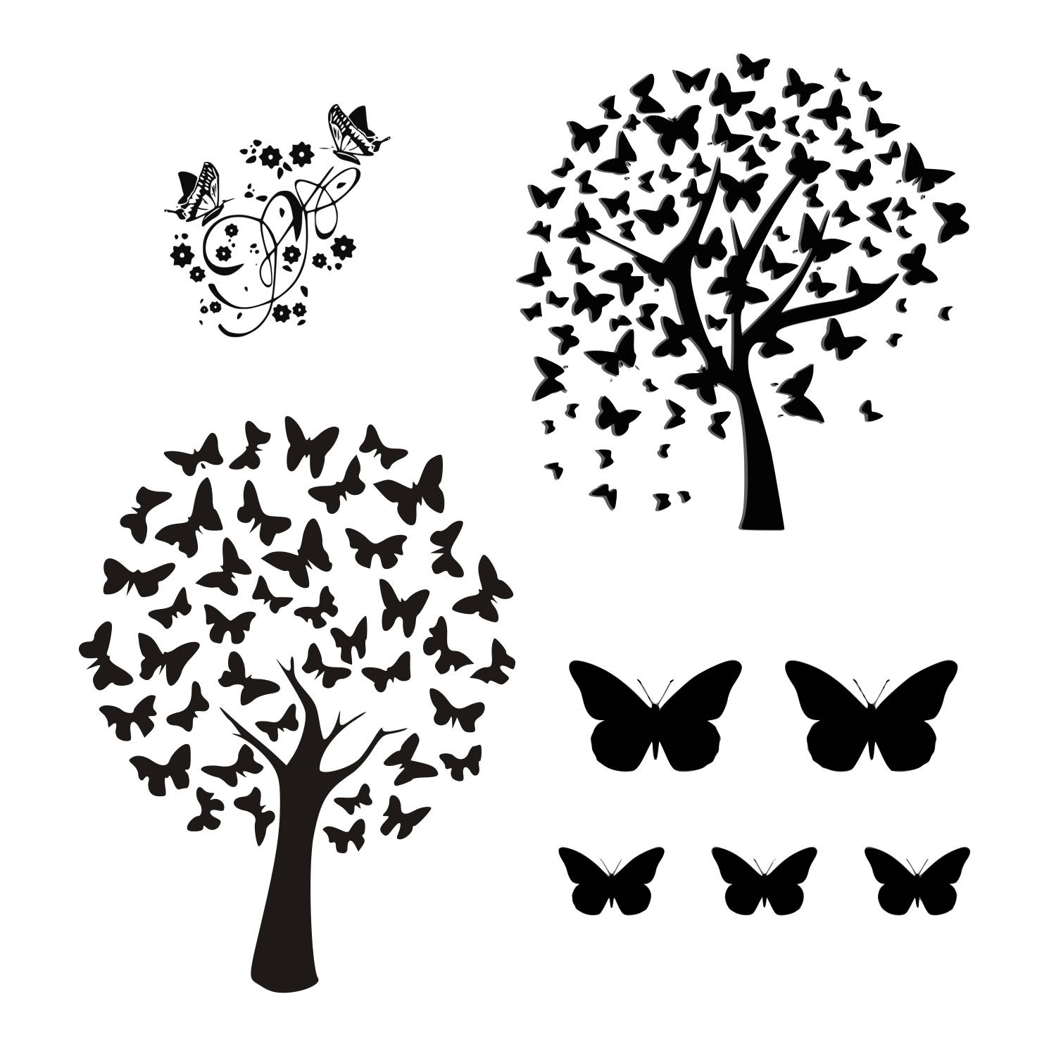1500x1500 Tree of Life SVG Butterfly tree svg set tree svg nature svgCricut