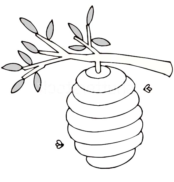 600x627 Bee Hive Clipart Tree Drawing
