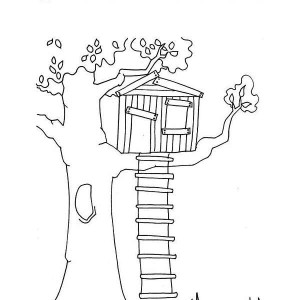 Tree drawing for kid at free for for How to build a treehouse step by step