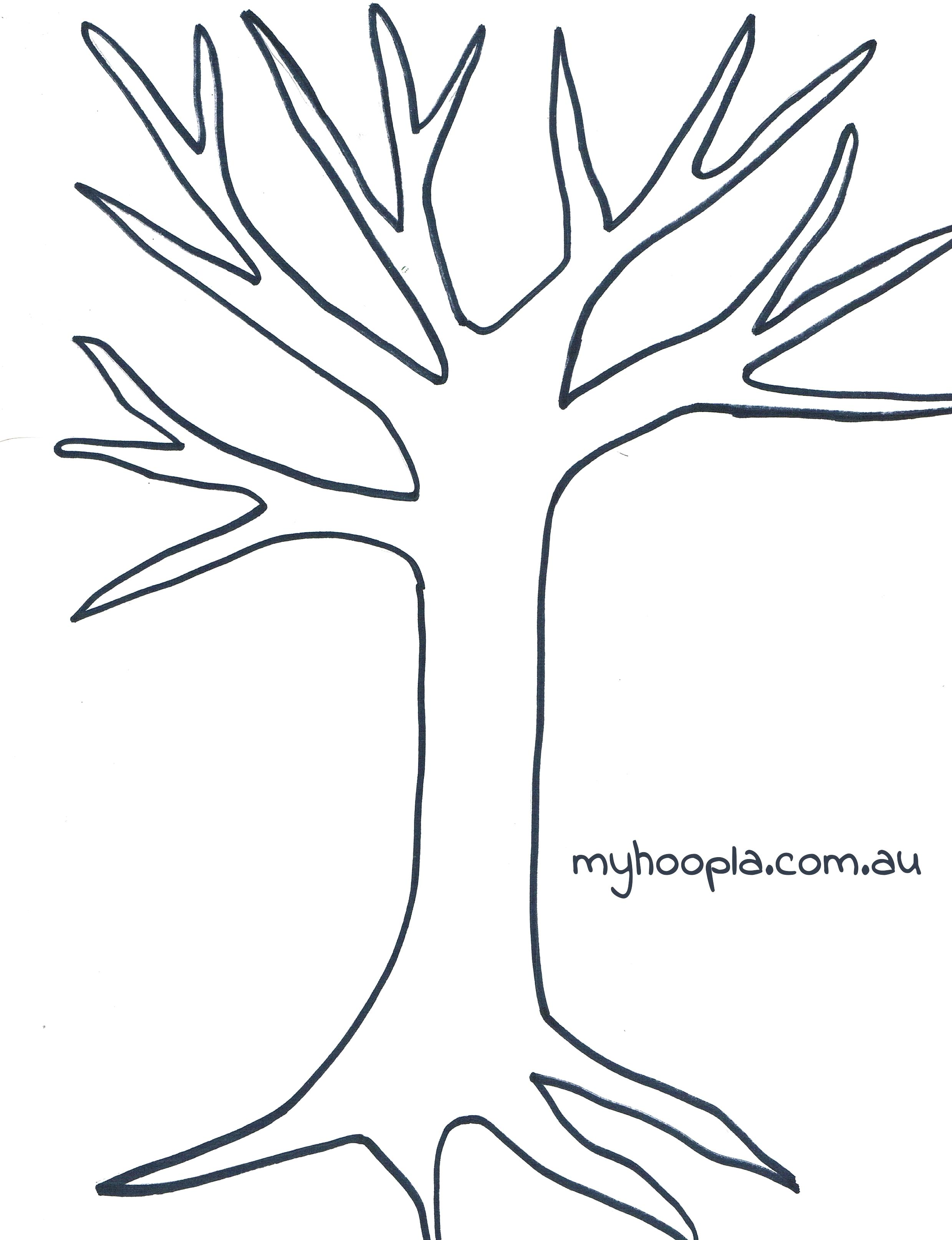 Hilaire image inside tree template printable