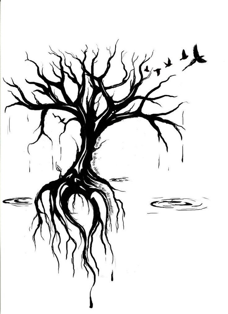 736x1012 Drawn Dead Tree Sad Tree