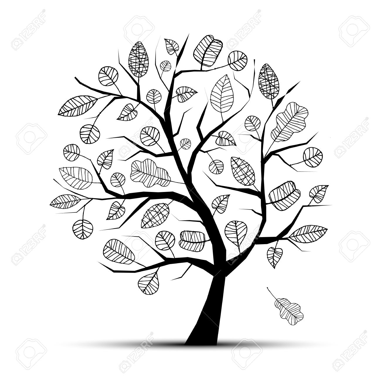 tree outline images