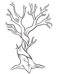 200x257 How To Draw A Dead Tree, Step By Step, Trees, Pop Culture, Free
