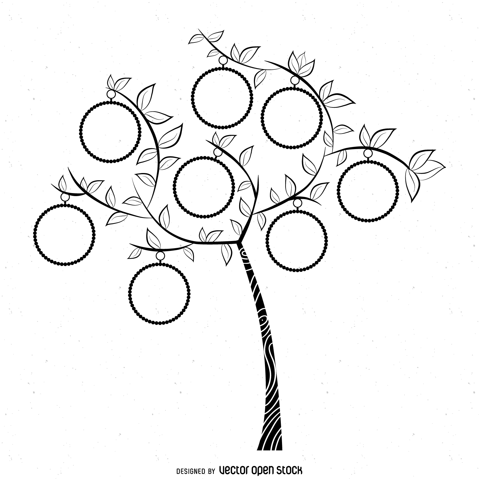 1600x1600 Simple Family Tree Drawing Simple Bw Family Tree Template
