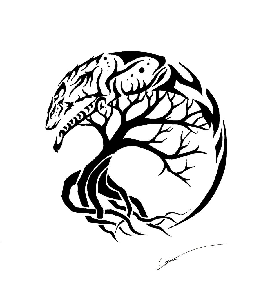 Line Drawing Tree Tattoo : Tree drawing tattoo at getdrawings free for personal