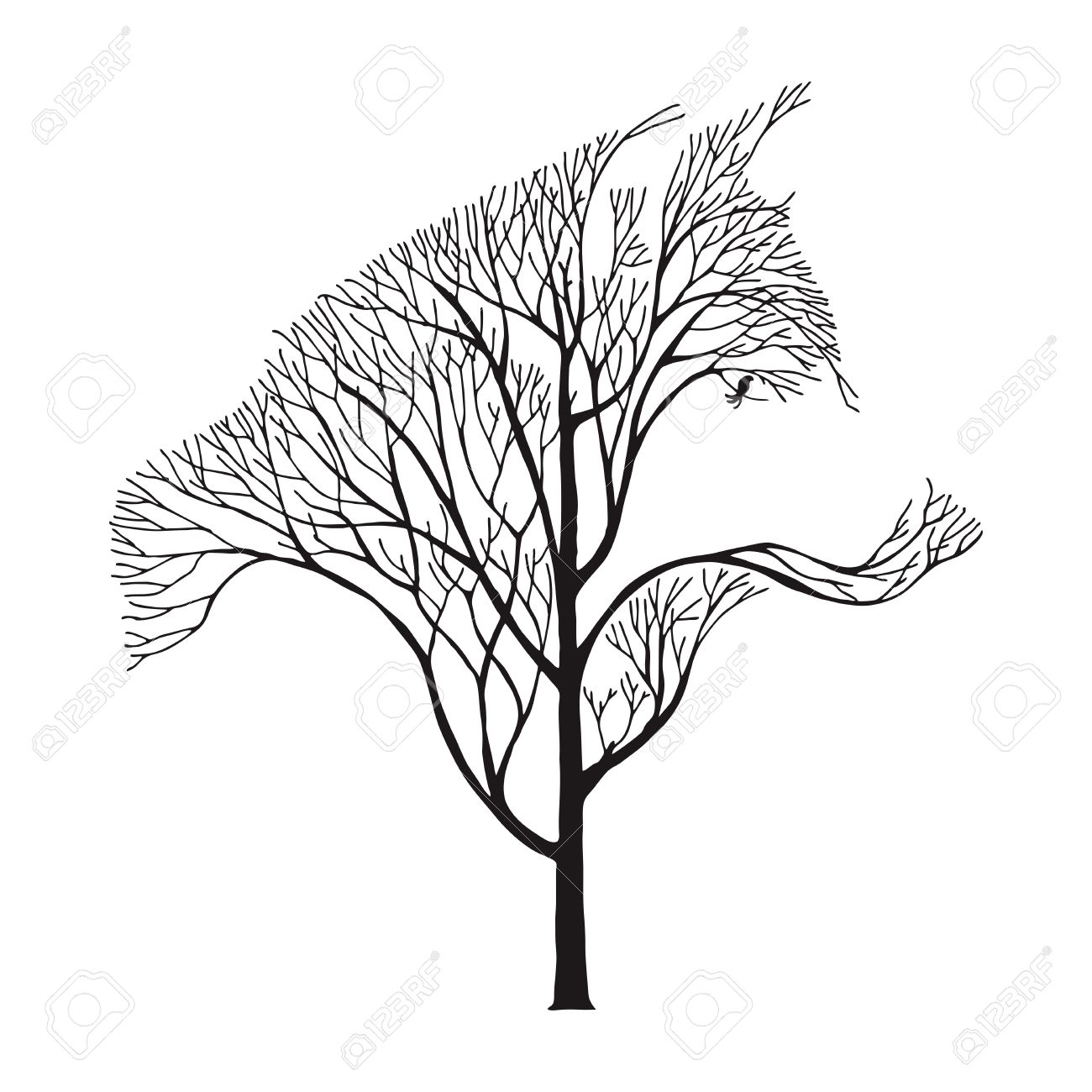 Tree Drawing Tattoo at GetDrawings com | Free for personal