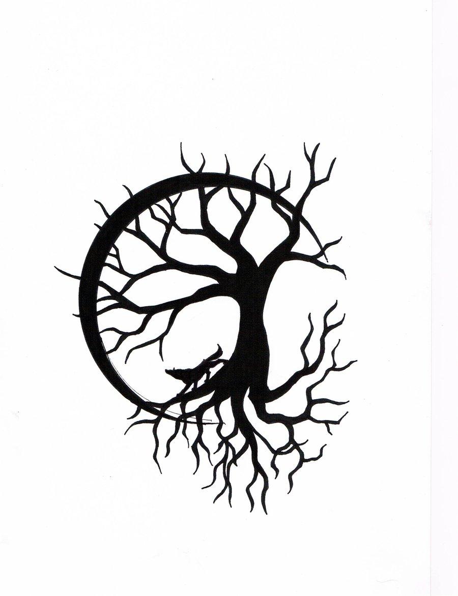 1418eecfa478c Tree Drawing Tattoo at GetDrawings.com | Free for personal use Tree ...