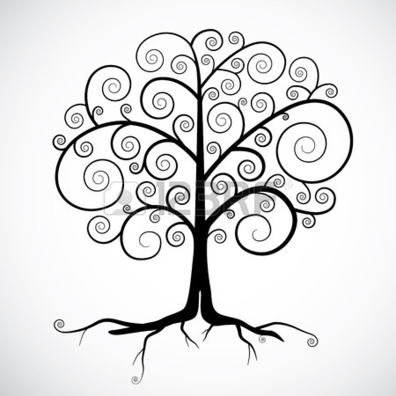 1350x1350 Roots Clipart Drawn