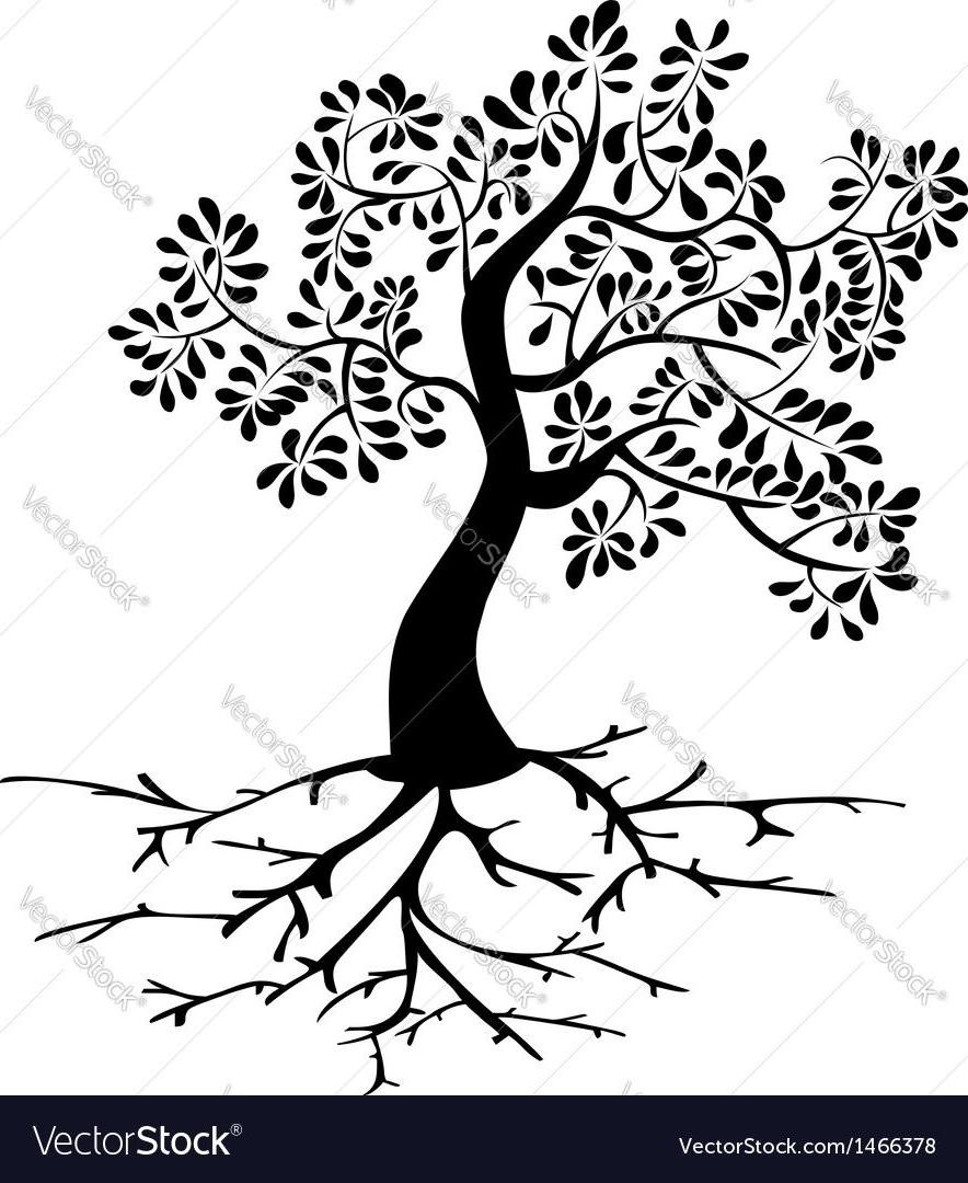884x1080 Best 15 Top Black Tree Roots Silhouette Vector Cdr Images