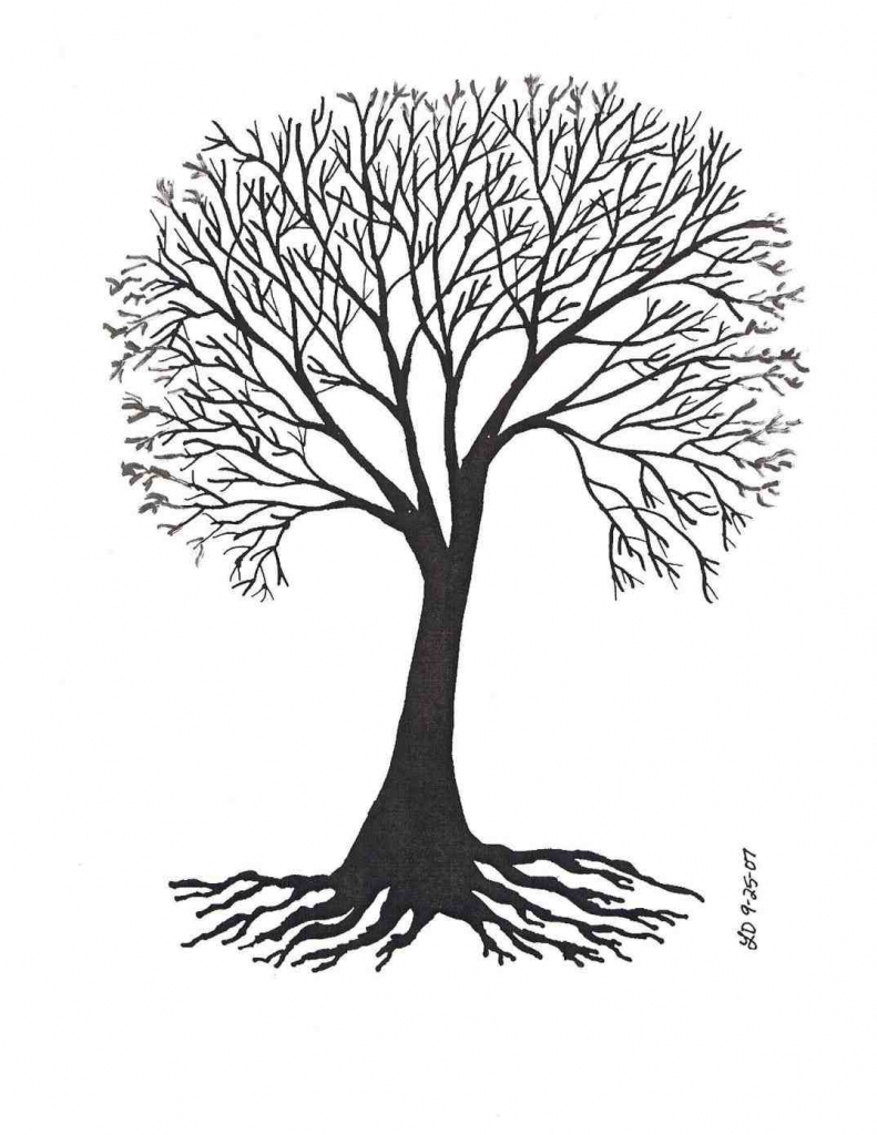 791x1024 Drawing Of A Tree With Roots Family Tree With Roots Drawing