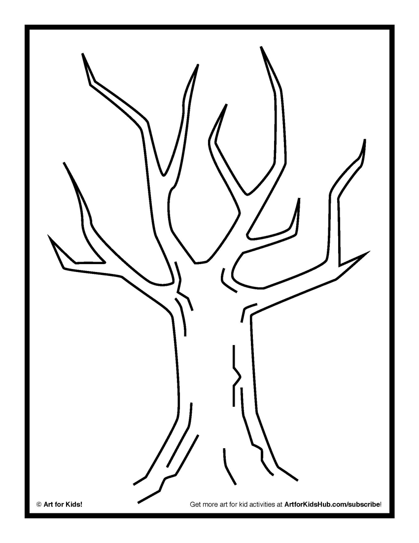 850x1100 Printable Picture Of A Tree Without Leaves
