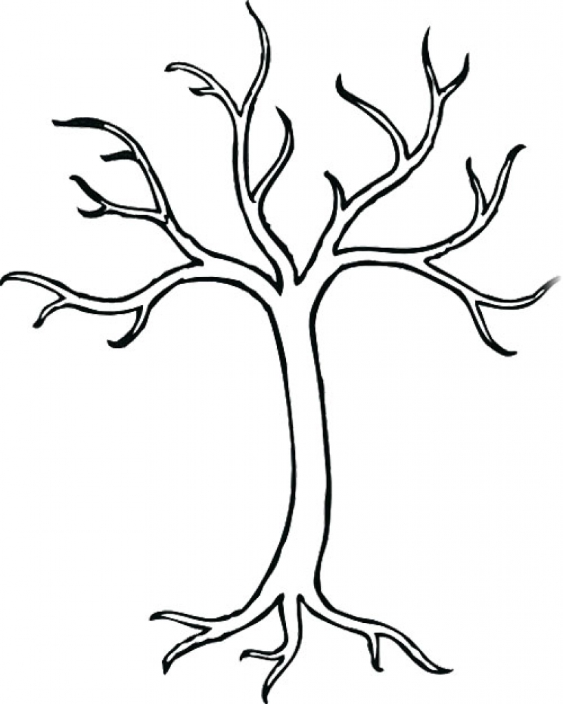 Tree drawing without leaves at free for for Coloring pages of trees without leaves