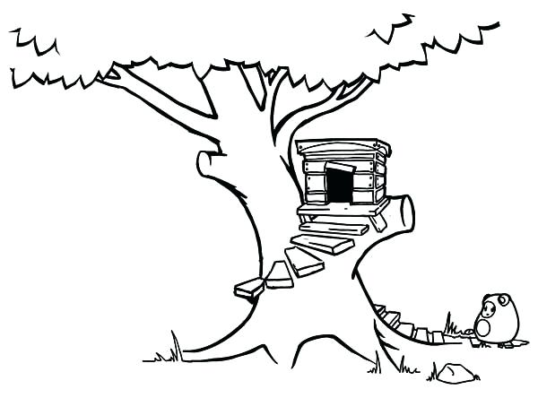 Tree house drawing at free for personal for Jack and annie coloring pages