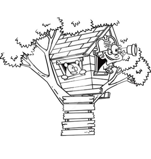594x624 Kids n 11 coloring pages of Treehouse