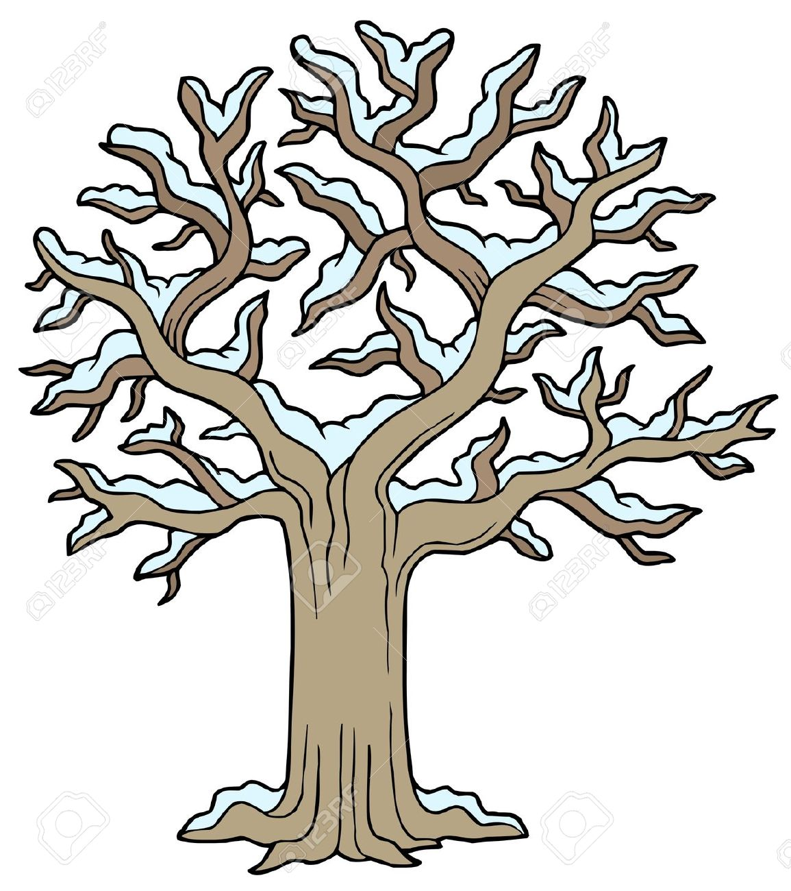 1155x1300 Tree In Winter Clipart