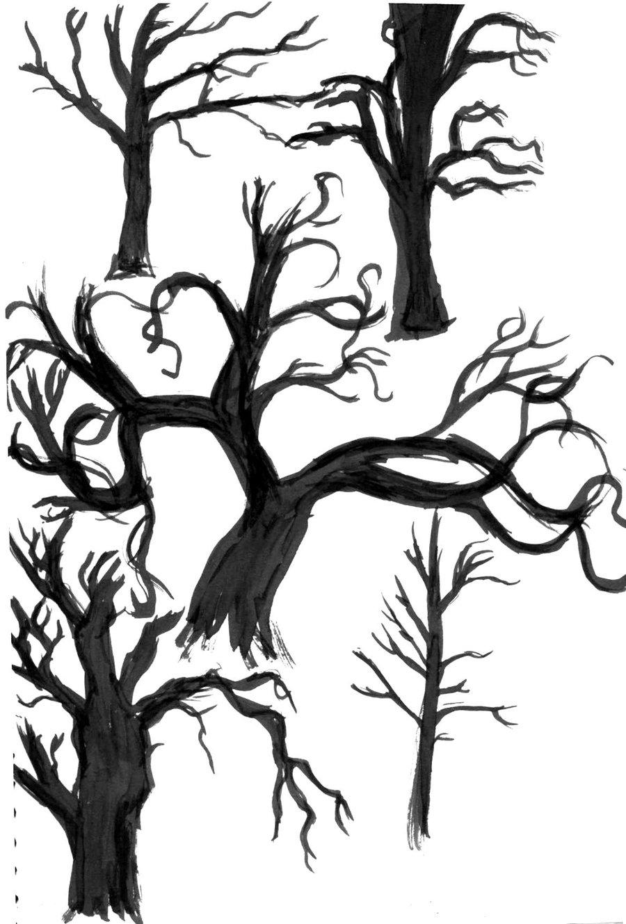 900x1329 Dead Tree Ink Paintings. By Risetothewake