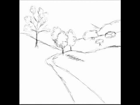 480x360 Drawing Easy Landscape Sketch