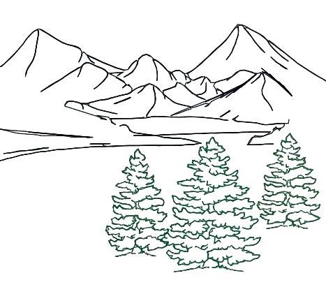 467x431 Landscape Outline Series Landscape Scenes Shaped As Letters